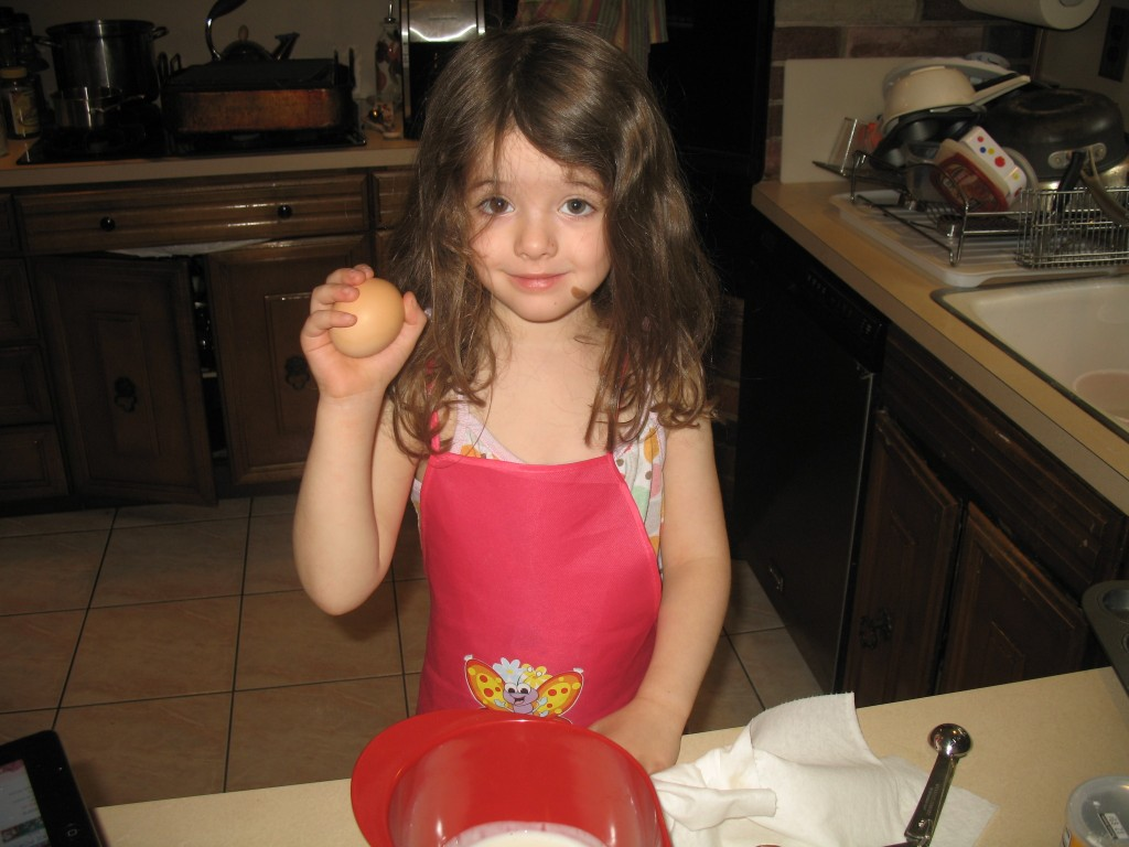 Juliet makes mini pancake maple muffins