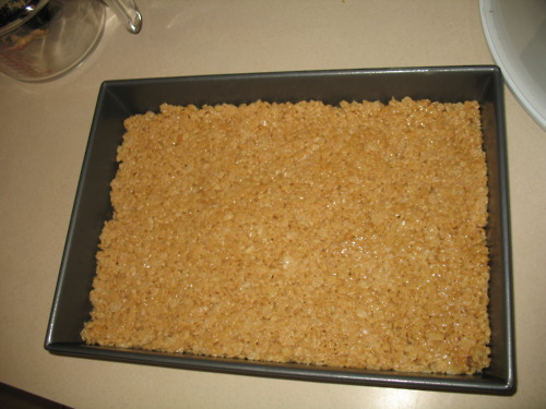 Peanut Butter Rice Krispie Squares