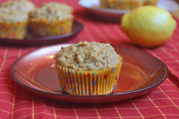 Lemon Ginger Tea Muffins