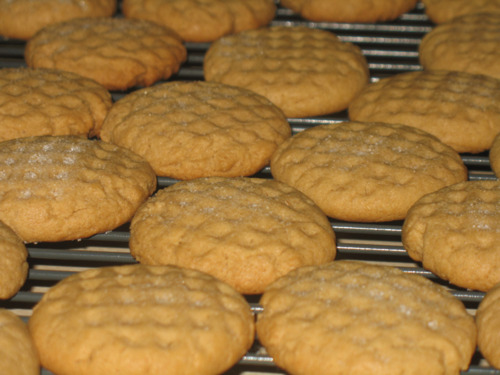 Crisp Peanut Butter Cookies - Baking Adventures In A Messy ...