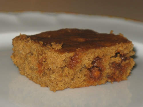 Pumpkin Cinnamon Chip Brownies