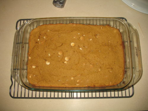 Pumpkin Peanut Butter Blondies