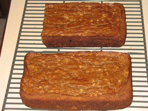 Banana Peanut Butter Chip Oatmeal Bread