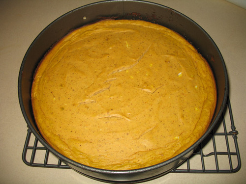 Pumpkin Cheesecake Fail