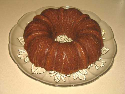 Gingery Carrot Tea Cake with Cinnamon Glaze