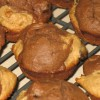 Peanut Butter And Dark Chocolate Mini Muffins