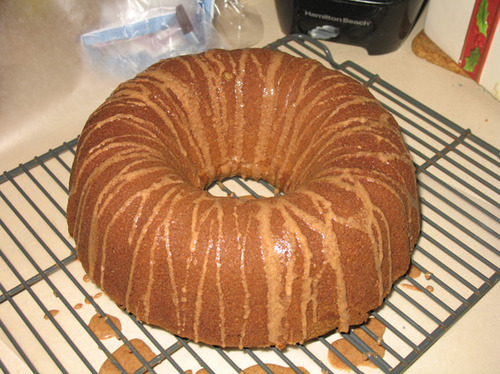 Spice Bundt Cake With Cinnamon Glaze