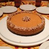 pumpkin cheesecake with cinnamon chai frosting