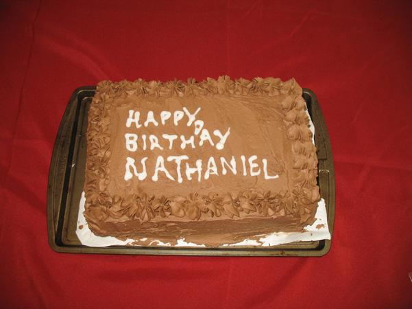 Nathaniel's birthday cake