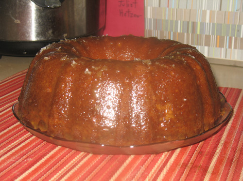 Toffee Vanilla Bean Bundt Cake