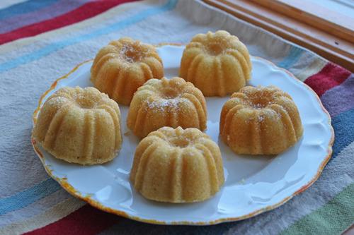 Mini Meyer Lemon Bundt Cakes