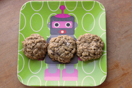 Salted Espresso Oatmeal Cookies