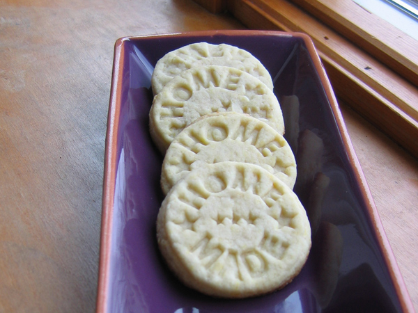 Stamped Honey Cookies