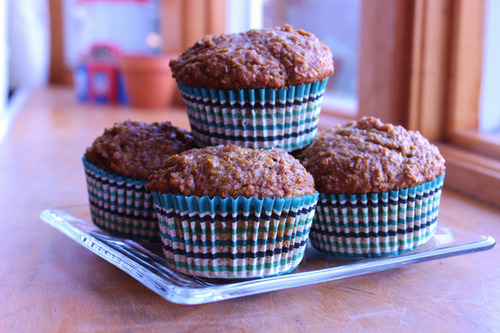 Honey Pumpkin Bran Muffins