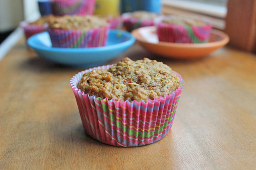 carrot oatmeal muffin