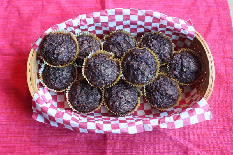 Chocolate Coconut Zucchini Muffins