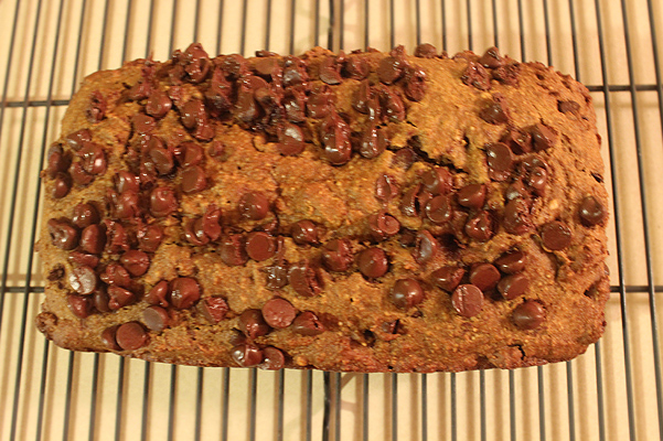 Almond Butter Chocolate Chip Pumpkin Bread