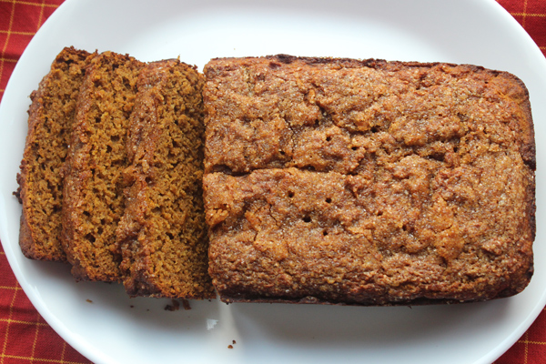 Spiced Honey Pumpkin Bread