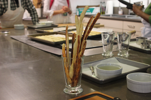 baking class bread sticks