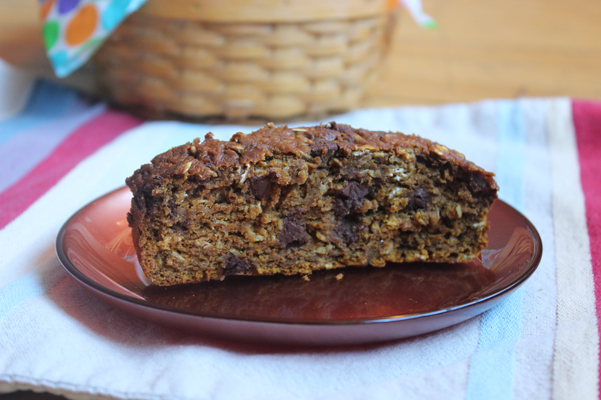 pumpkin oatmeal chocolate chip bread