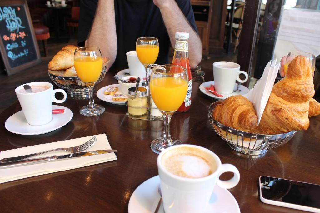 last breakfast in Paris