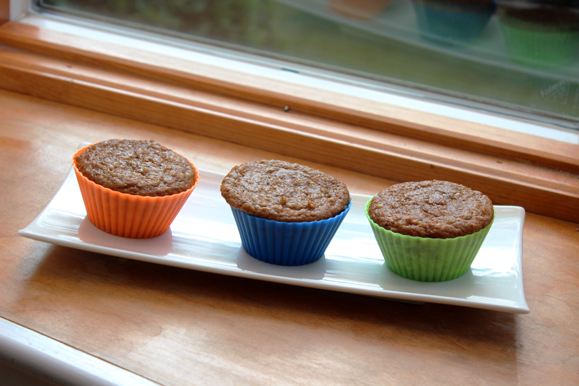Cinnamon Oat Muffins in Silicone Baking Cups