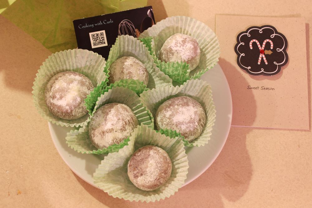 Chocolate Mint Truffle Snowballs