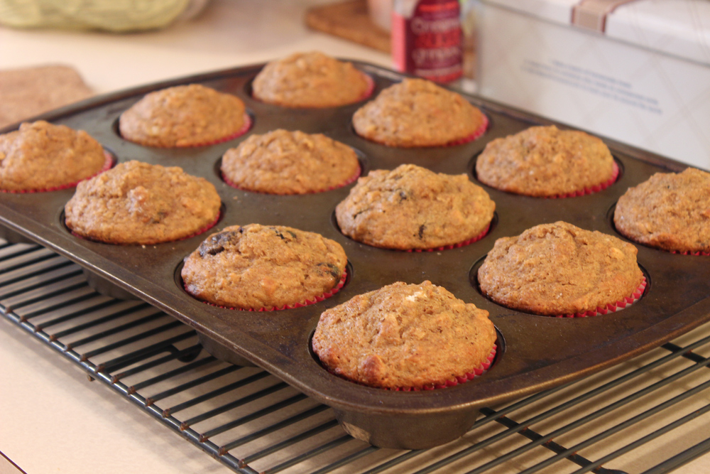 Whole Wheat Banana Oat Muffins