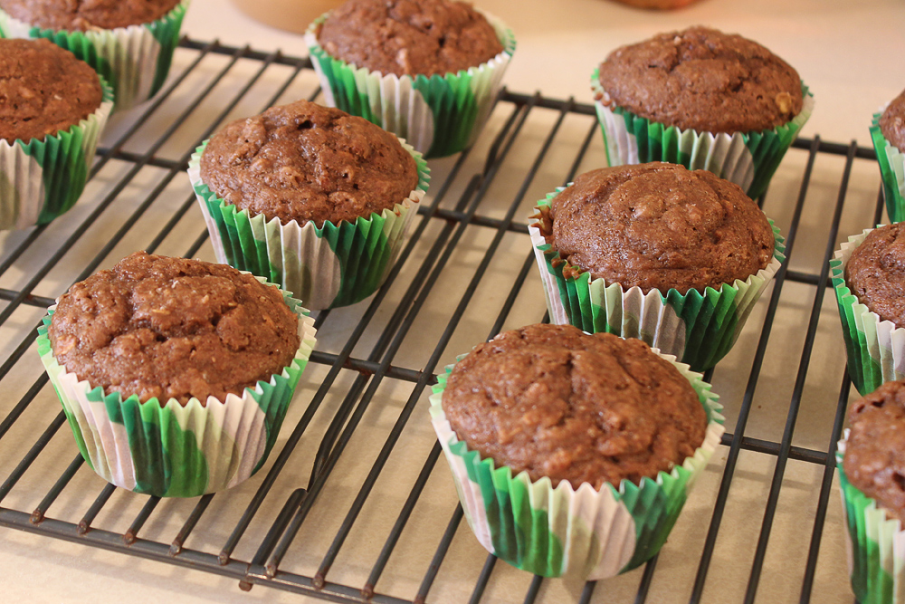 Peanut Butter Cocoa Oat Muffins