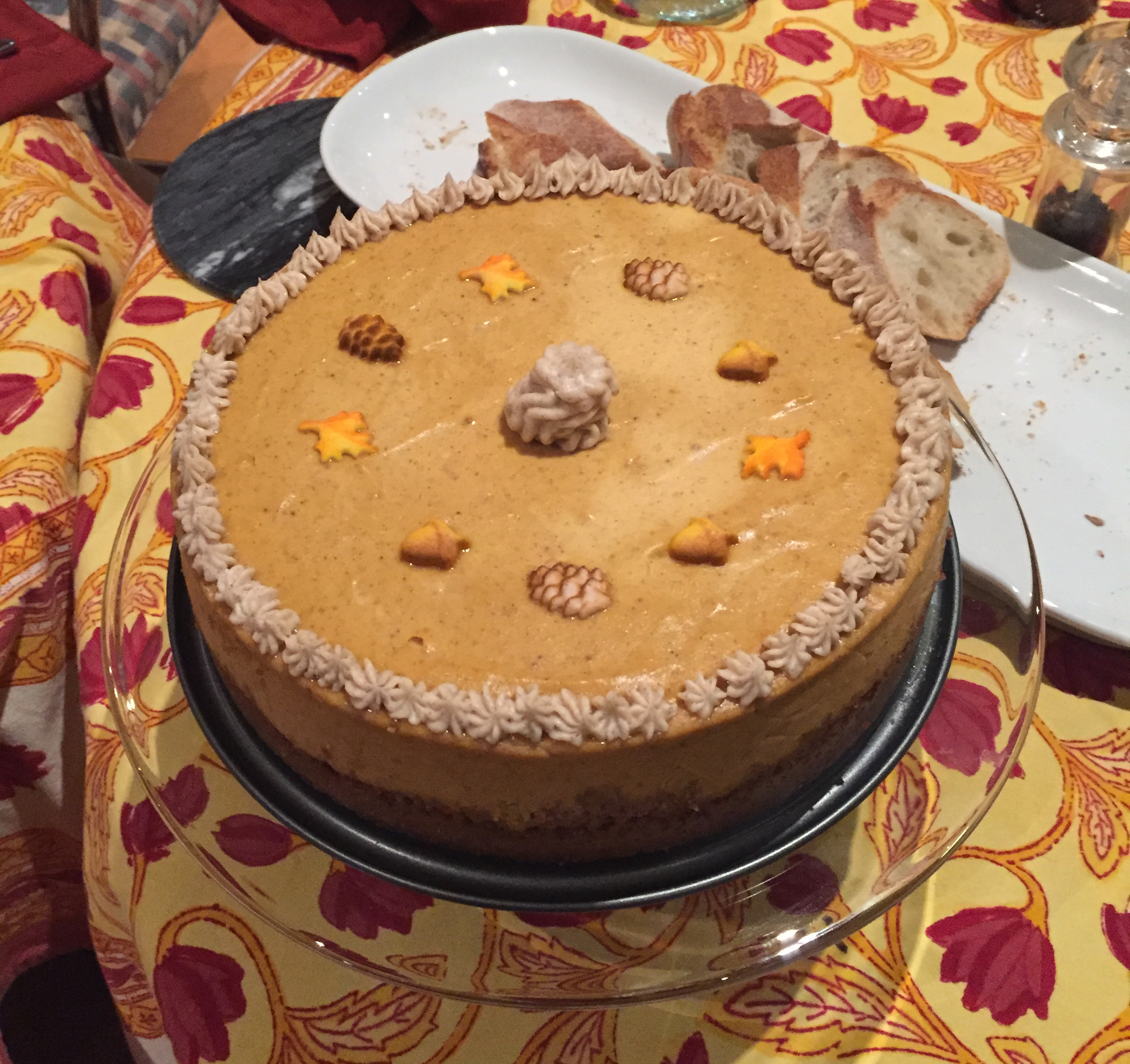 pumpkin cheesecake with chai buttercream frosting