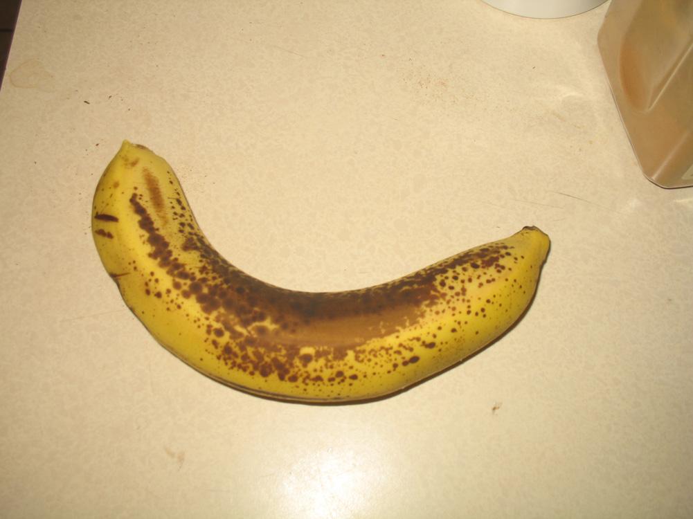 gigantic ripe banana