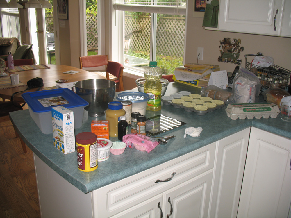supplies in kitchen
