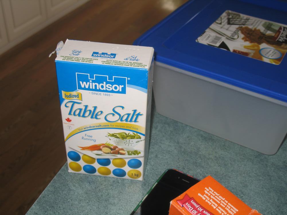 salt in a box