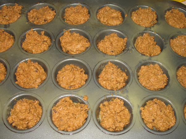 rustic muffin batter