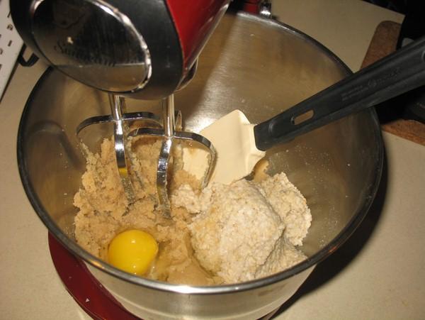 oats, egg, batter