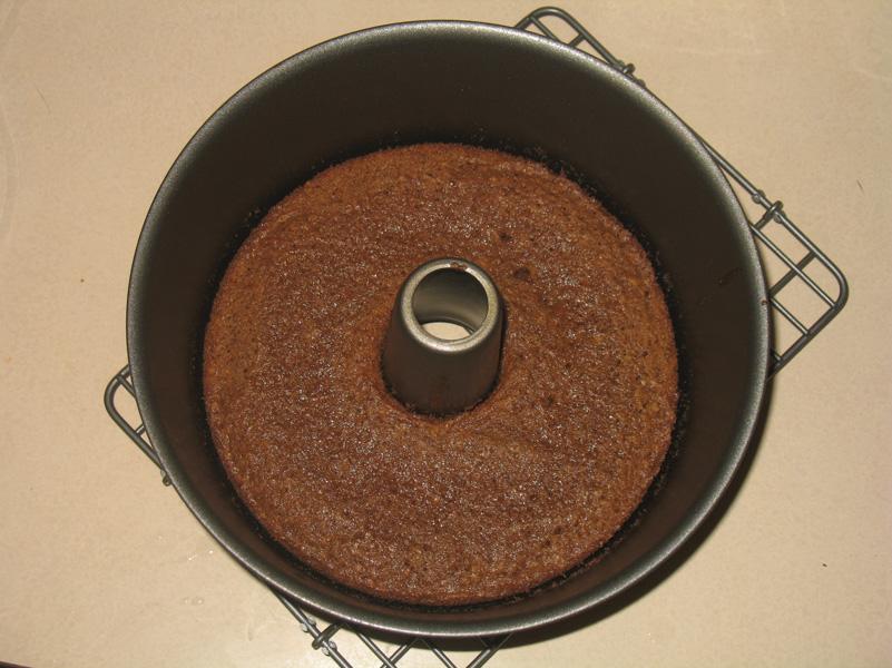 flat cake in pan