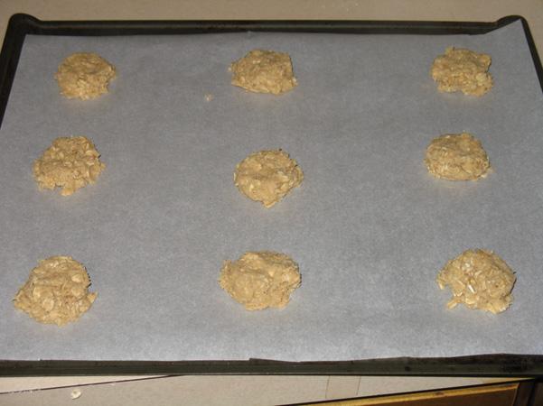 flattened on pan