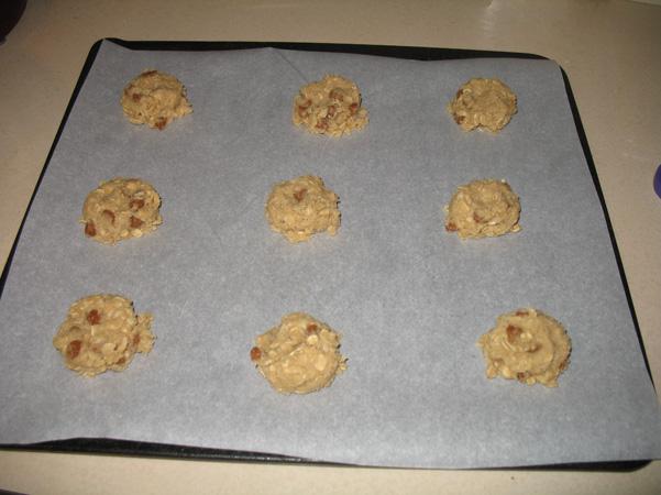 cinnamon chip cookies on pan