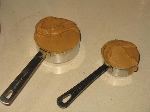 peanut butter, measured
