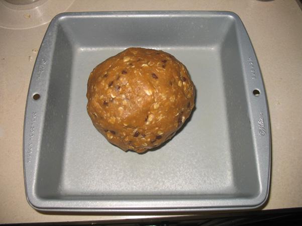 dough ball in pan