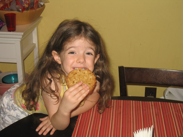 Juliet with oatmeal cookie