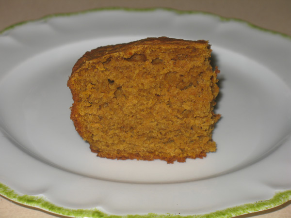 chai pumpkin bread slice