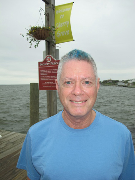 Dad at 70 with his new blue hair