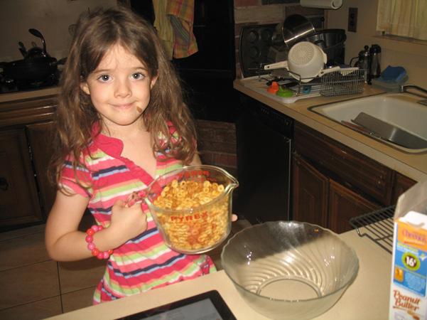 Juliet with Cheerios