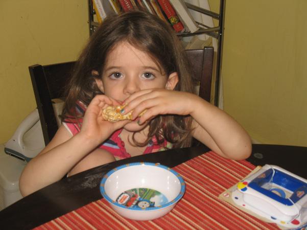 Juliet eating