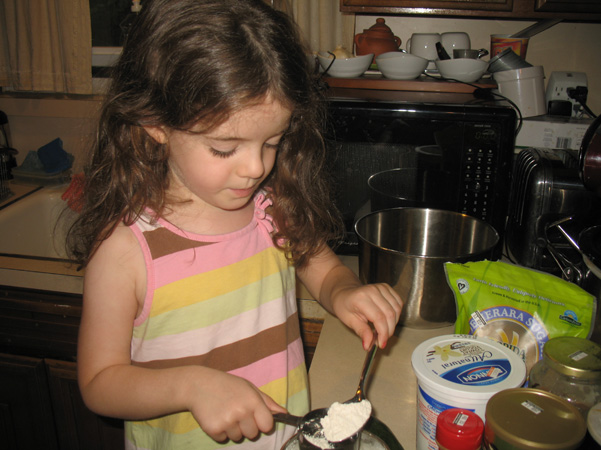 Juliet measuring flour
