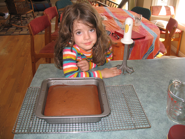 mocha cake, baked, with Juliet