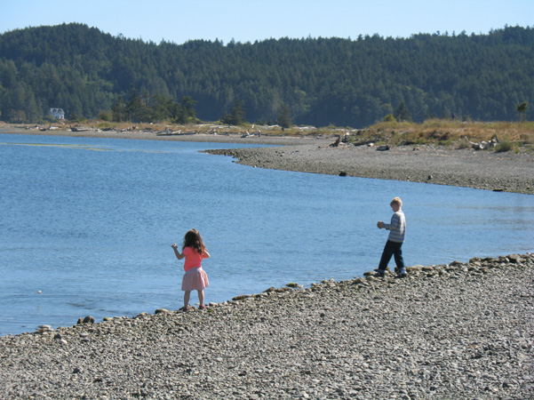 kids at Whiffen Spit