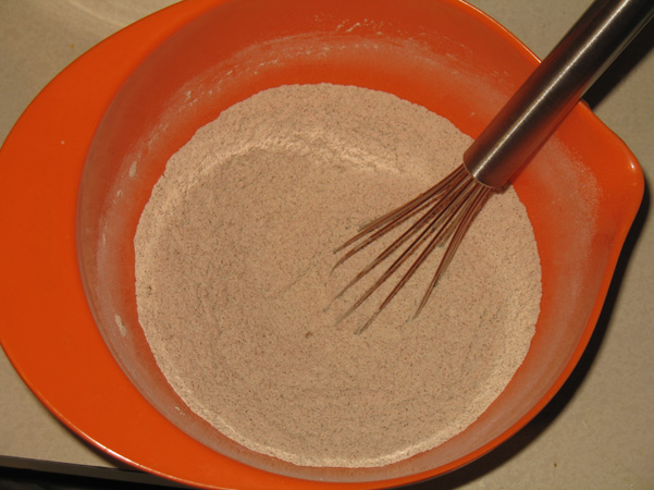 whisked dry ingredients