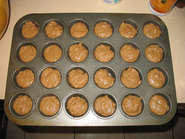 mini muffin batter